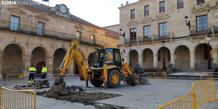 La plaza Mayor contará con dos nuevas rampas de obra