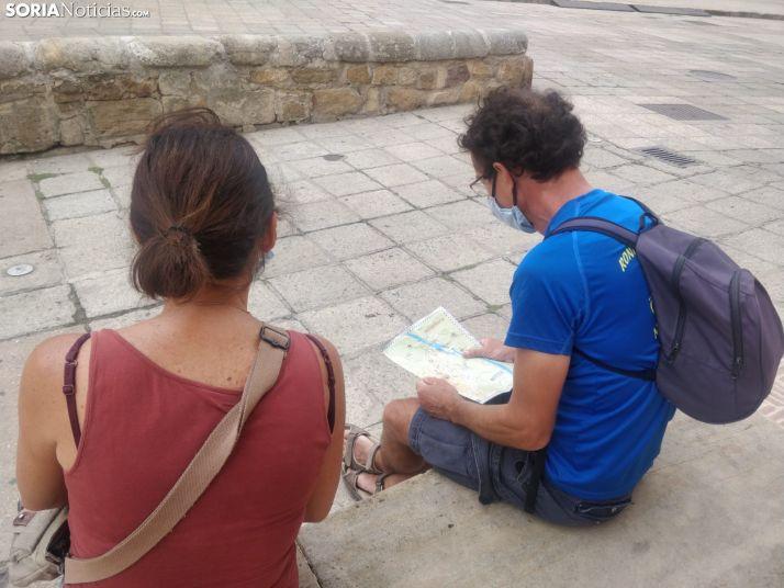 Turistas en época del coronavirus en Soria.