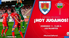 Cartel anunciador del partido entre Numancia y Racing de Ferrol.