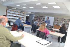 Una imagen del taller literario celebrado en la Biblioteca. /SN