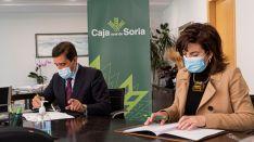 Renovación del convenio entre Caja Rural y Soria Edita