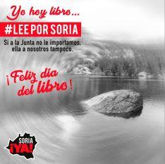 Foto 4 - Soria ¡Ya! anima a leer por Soria el 23A como acto de rebeldía ante la Junta de Castilla y León