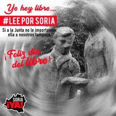 Foto 3 - Soria ¡Ya! anima a leer por Soria el 23A como acto de rebeldía ante la Junta de Castilla y León