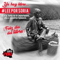 Soria ¡Ya! anima a leer por Soria el 23A como acto de rebeldía ante la Junta de Castilla y Le&oac