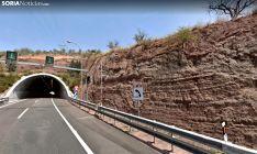 Túnel de Lodares en la A-2. /GM