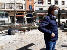 Carlos Martínez visita las obras de la plaza de las Concepciones.