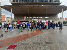 Una imagen de la concentración esta tarde de miércoles. /SN