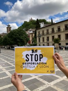 Foto 3 - Decenas de jóvenes se concentran en Madrid contra la despoblacion de Castilla y León en su día 23A