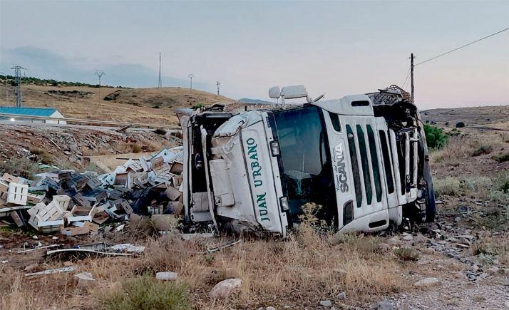 Foto 2 - Investigado por sustracción del interior de un camión accidentado en Ágreda