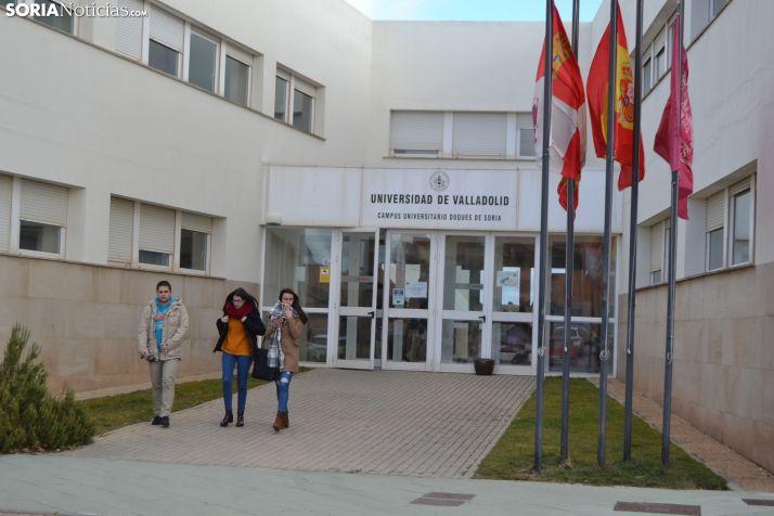 Imagen de archivo de estudiantes de la UVA en Soria.