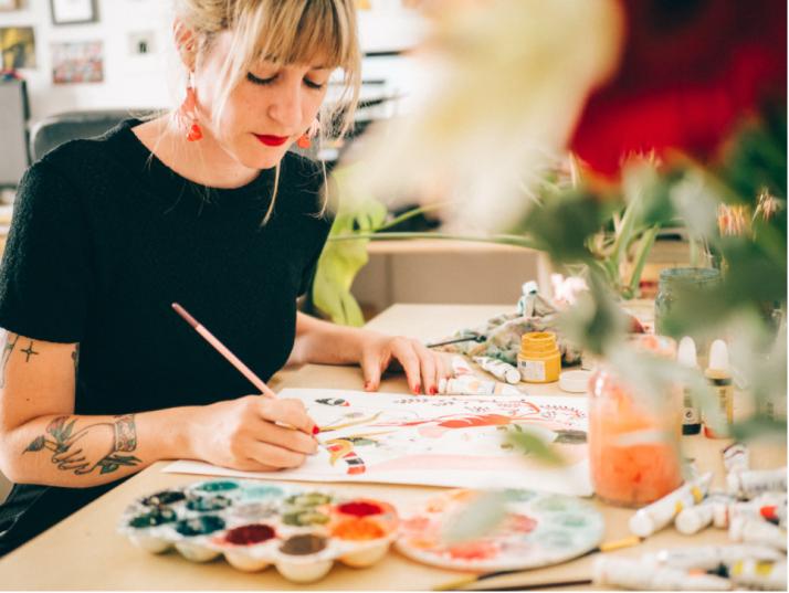 Sexo, ilustraciones y flores: una charla con María Hesse