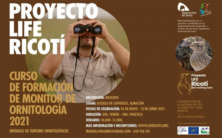 Foto 1 - Curso gratuito de monitor de ornitología