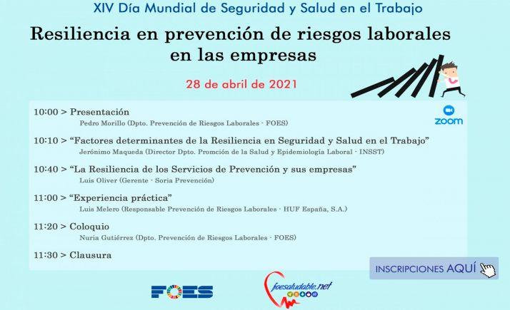 Foto 1 - FOES celebra el Día Mundial de Seguridad y Salud en el Trabajo con una jornada coloquio sobre resiliencia en prevención de riesgos laborales