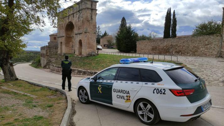 Imagen de la Guardia Civil en Medinaceli./ Foto: Guardia Civil.