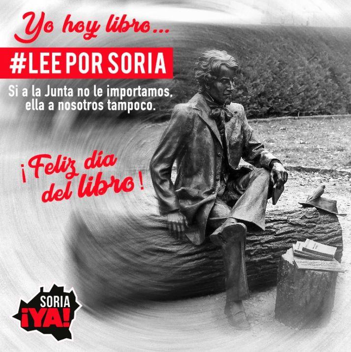 Soria ¡Ya! anima a leer por Soria el 23A como acto de rebeldía ante la Junta de Castilla y León