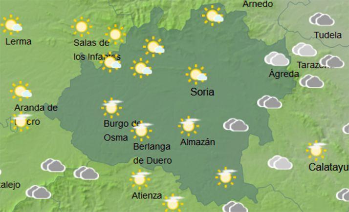 Foto 1 - El tiempo en Soria: Leve descenso en las mínimas