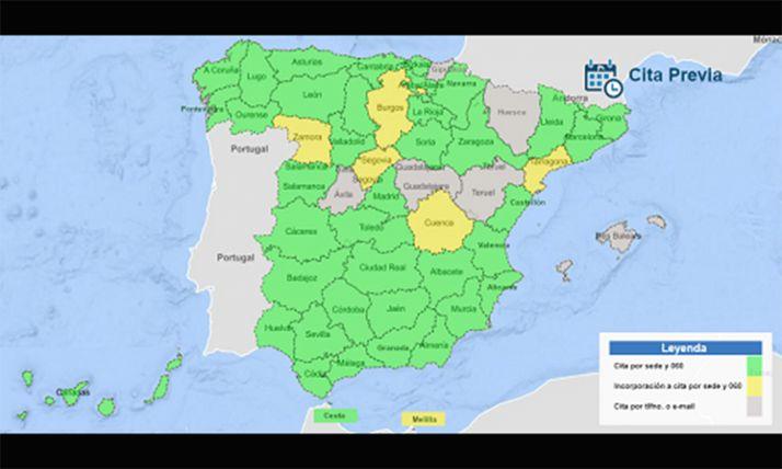 Foto 1 - MUFACE suma cita previa en 46 provincias con 060 y sede electrónica