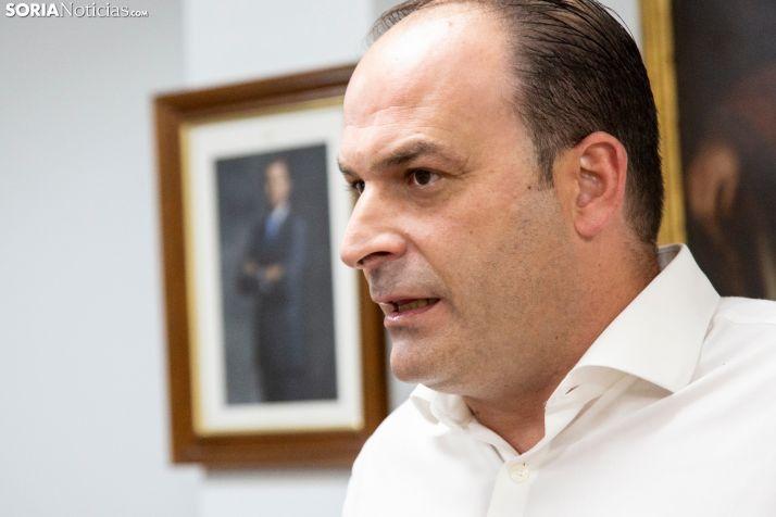 Miguel Cobo, alcalde de El Burgo de Osma. /María Ferrer