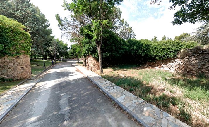 Foto 1 - Informe favorable para el proyecto de consolidación y restauración del tramo de muralla occidental del Castillo