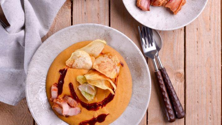 Plato de gachas. /Canal Cocina-Juan Pozuelo