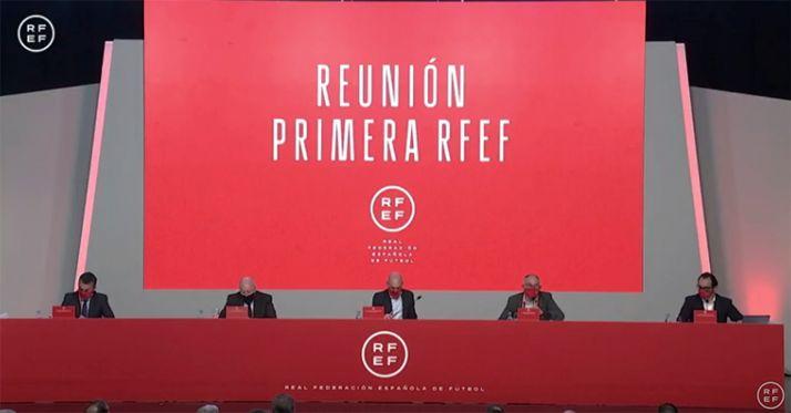 Una imagen de la reunión hoy. /RFEF
