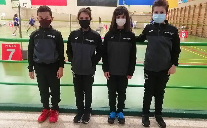 Los volantistas Valonsadero Bádminton que participantes en el TTR Castilla y León 2*Sub13. /CVB