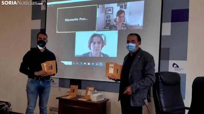Enrique Rubio y Benito Serrano durante la entrega de premios.