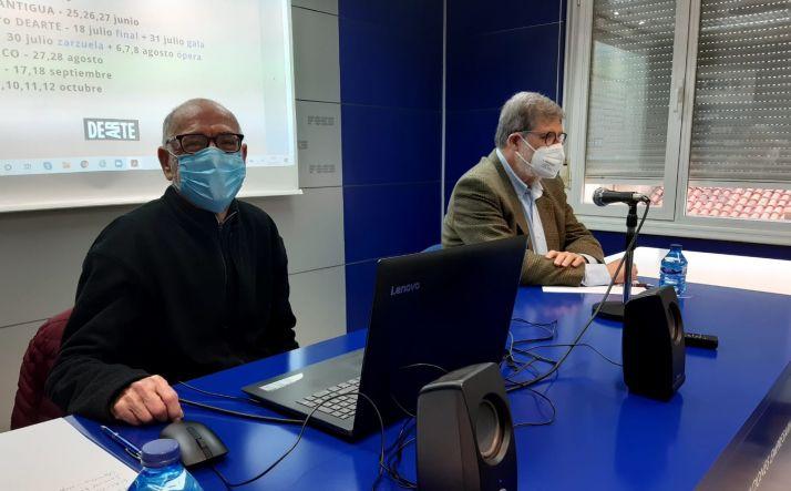 Miguel Tugores y Santiago Aparicio durante la presentación.