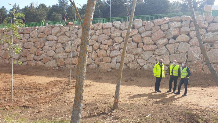 Imagen de los trabajos en el acceso a San Saturio.