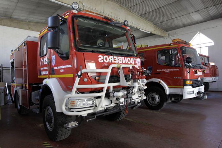 Foto 1 - El parque de bomberos de Soria ya cuenta con un compresor que reduce los tiempos
