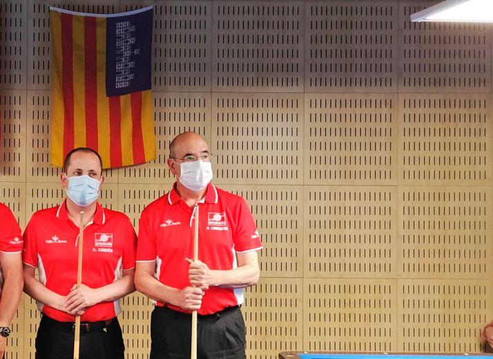 Imágenes de los partidos en Palma./ Foto: C.A Numancia.