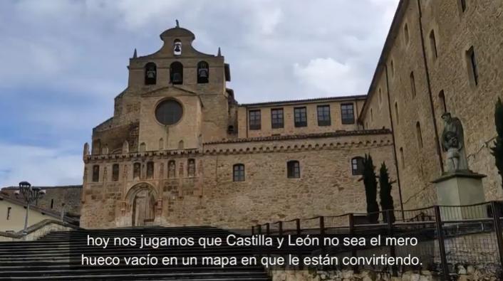 Instante del vídeo de Jóvenes de Castilla y León.