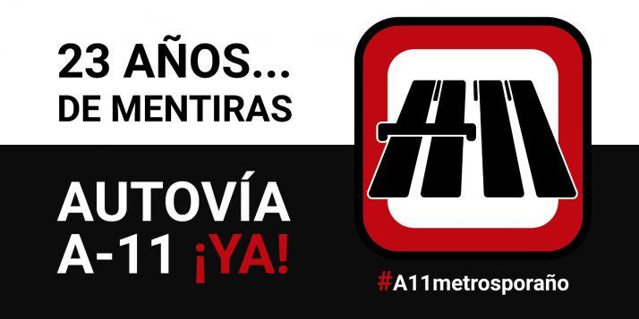 Foto 1 - Las plataformas de la Autovía del Duero lanzan la campaña #A11MetrosPorAño