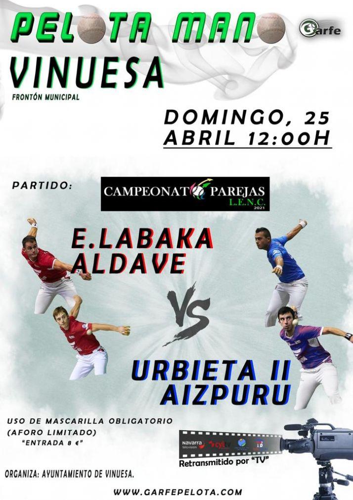 Foto 1 - Pelota del campeonato por parejas en Vinuesa este domingo
