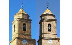 El antes y el después de la torre.