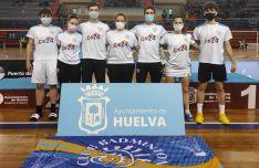 Los volantistas sorianos en Huelva. /CBS-CS24