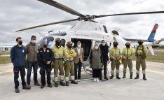 Una imagen de la visita oficial a la base de Garray. /Jta.