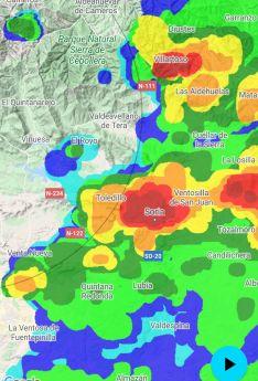 Mapa meteorológico sobre la situación de la tormenta al tiempo de producirse. /AS