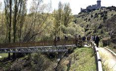 El Parque del río Lobos cuenta ya con una nueva pasarela y un sanitario ecológico