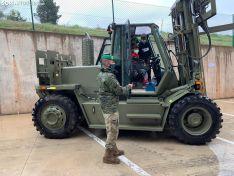 Una imagen de la presencia del Ejército hoy en San Leonardo de Yagüe. /SN