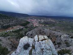 Vista aérea de Cabrejas del Pinar.
