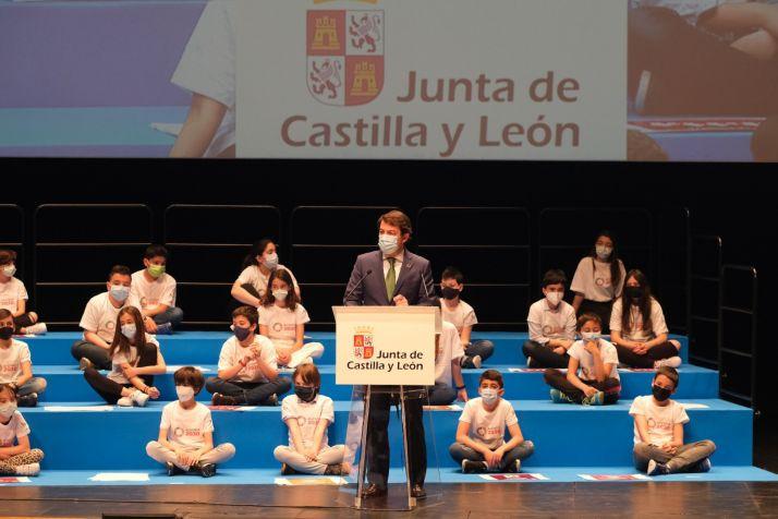 Imagen de Mañueco en el Foro Compromiso 2030./ Foto: La Junta de CyL.