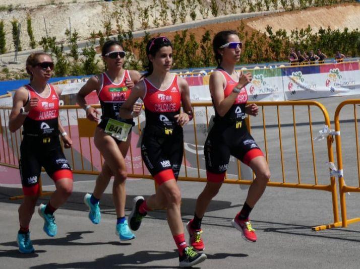 Imagen de la competición de este fin de semana./ Foto: Triatlón Soriano.