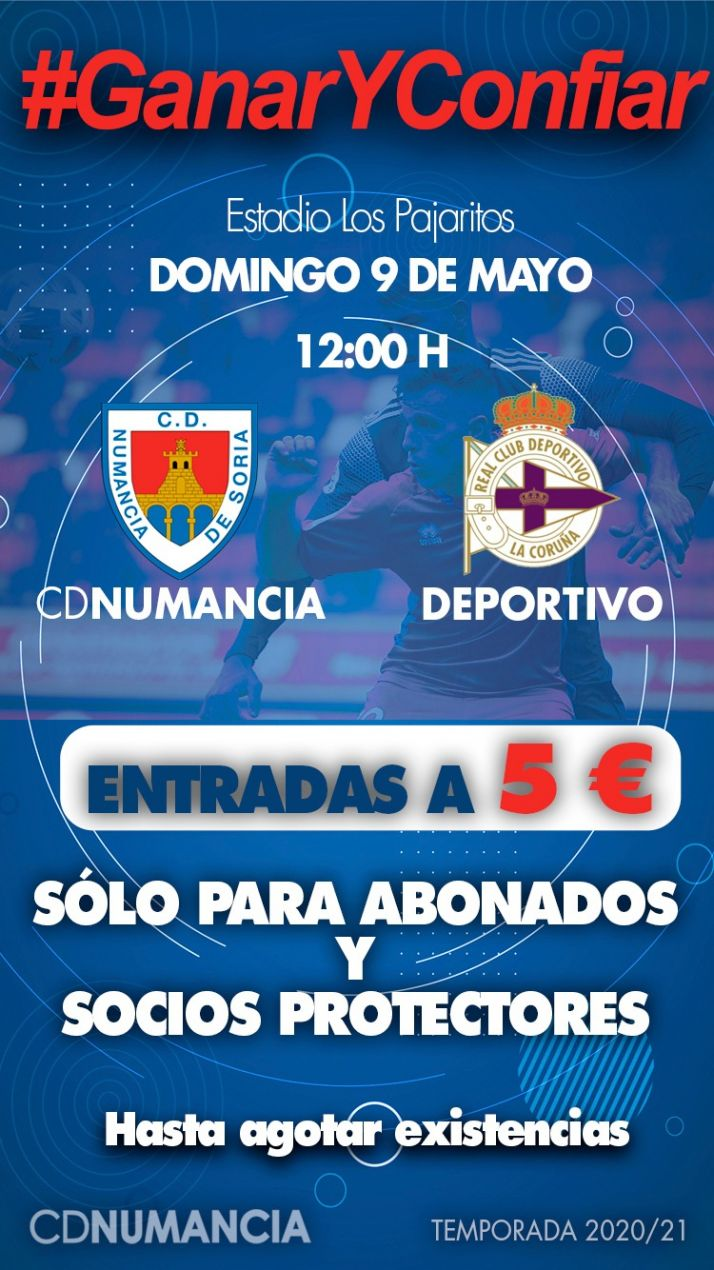 Foto 1 - El milagro que necesita el Numancia y dónde y cómo ver el partido contra el Deportivo