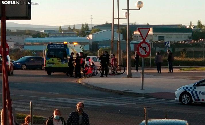 Atropellada una ciclista en la rotonda del polígono