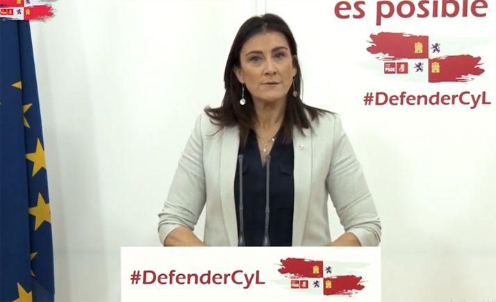 """Foto 1 - Ana Sánchez: """"El PSOE está preparado para, ante cualquier eventualidad, hacerse cargo de la situación de Castilla y León"""""""