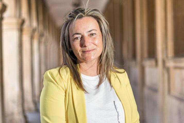 Begoña Redondo a las puertas del Ayuntamiento de Soria.