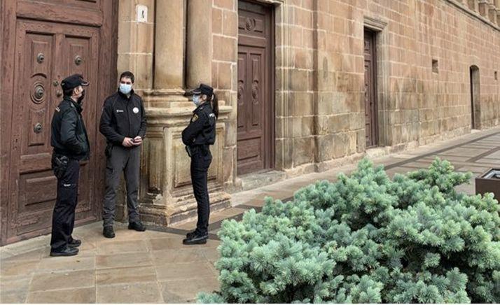 La Policía Nacional, con los vigilantes de seguridad de Soria
