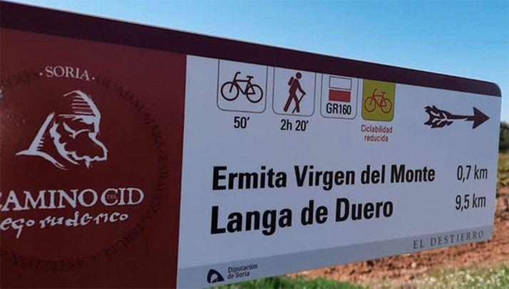 Poste de dirección en el entorno de Langa de Duero. /CCC