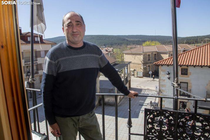 José Llorente, alcalde de Covaleda. /María Ferrer